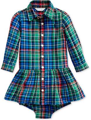Polo Ralph Lauren Baby Girls Plaid Dress & Bloomer