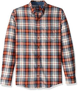Izod Men's Tall Slim Flannel Button Down Long Sleeve Soft Touch Shirt