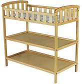 Dream On Me Emily Changing Table - Natural - Nursery Room - Nursery Furniture - Traditional Design in a Solid Pine Wood Construction - 2 Shelves - Non-toxic Finish by