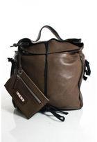 Marni Brown Leather Multi Zipper Hobo Bag