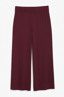 Monki Wide ribbed trousers