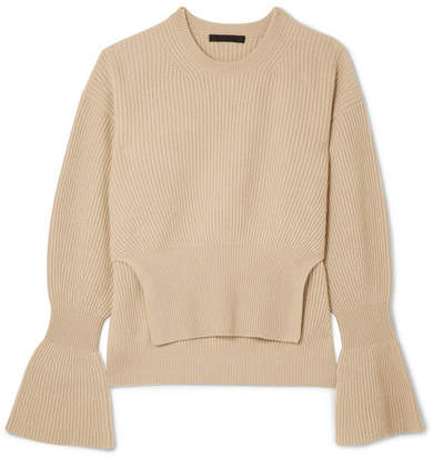 Alexander Wang Ribbed-knit Sweater - Beige