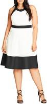 City Chic Pretty Mono Dress