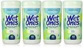 Playtex Wet Ones Sensitive Skin Hand Wipes, Extra Gentle 40 Count Canister (Pack of 4)