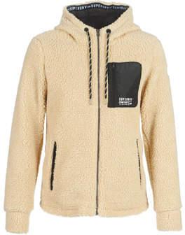 Superdry STORM URBAN ZIPHOOD women's Fleece jacket in Brown