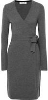 Diane von Furstenberg New Linda Mélange Cashmere Wrap Dress