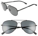 BOSS Men's 59Mm Aviator Sunglasses - Black/ Gray Opal