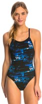 adidas Women's Elemental Raw Vortex Back One Piece Swimsuit 8150205