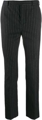 Saint Laurent Metallic Striped Tailored Trousers