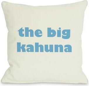 "Kahuna One Bella Casa The Big Throw Pillow One Bella Casa Size: 16"" H x 16"" W"