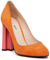 Bally Paris Geo Heel Suede Pump
