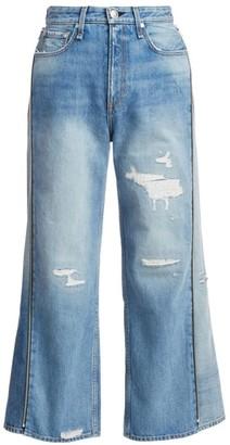 Rag & Bone Haru High-Rise Side Zip Crop Wide-Leg Jeans