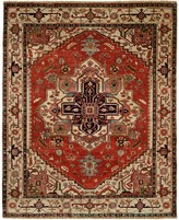 HRI Serapi Hand-Knotted Wool Pile Area Rug - 6x9', Heritage Collection