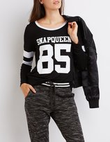 Charlotte Russe Snapqueen Graphic Football Tee