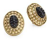 Heidi Daus Boho Chic Tiered Oval Earrings