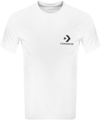Converse Star Chevron Logo T Shirt White