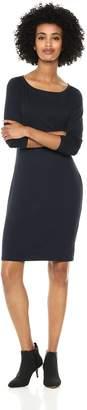 Amazon Brand - Daily Ritual Women's Jersey 3/4-Sleeve Bateau-Neck T-Shirt Dress