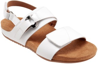 SoftWalk Adjustable Leather Sandals - Benissa
