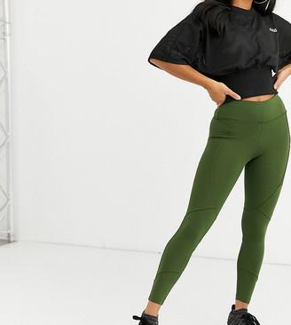 Asos 4505 4505 Petite icon legging with bum sculpt seam detail-Green