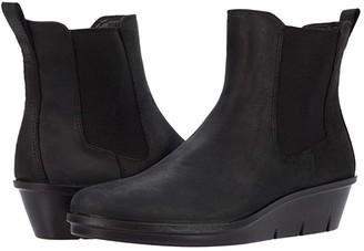 Ecco Skyler Wedge Chelsea Boot (Black) Women's Shoes