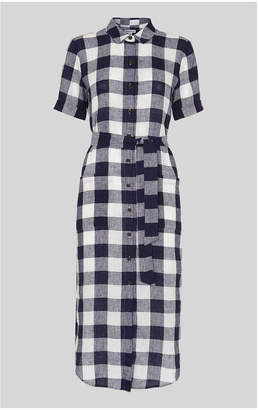 Whistles Linen Gingham Montana Dress