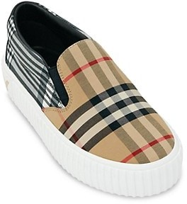 Burberry Baby's, Little Kid's & Kid's Harwick Check Slip-On Sneakers