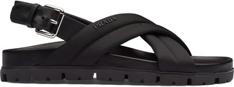Prada Padded Strap Sandals