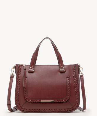 Sole Society Women's Dayla Satchel Vegan Leather In Color: Oxblood Bag From