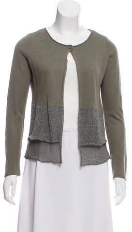 Fabiana Filippi Metallic Knit Cardigan