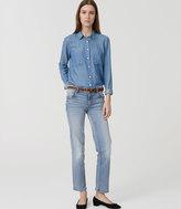 LOFT Modern Straight Crop Jeans in Vintage Wash