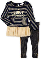 Juicy Couture Girls 4-6x) Two-Piece Metallic Stripe Tunic & Leggings Set