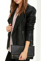 LuLu*s Get Up and Go Black Clutch