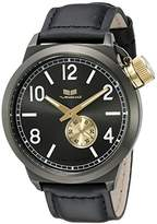 Vestal Unisex CTN3L14 Canteen Leather Analog Display Quartz Black Watch