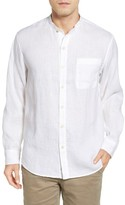 Tommy Bahama Men's Remi Standard Fit Linen Band Collar Shirt