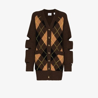 Burberry Agnese argyle check cardigan