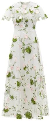 Giambattista Valli Floral-embroidered Tulle Gown - White Multi