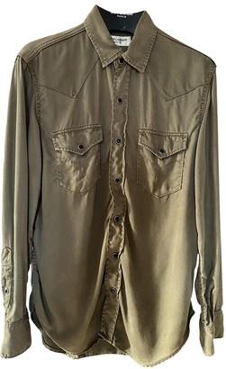 Saint Laurent Khaki Denim - Jeans Tops