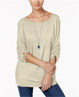 Style&Co. Style & Co Slit-Sleeve Banded-Bottom Tunic, Only at Macy's