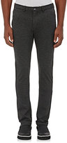 Barneys New York Men's Ponte Knit Slim-Fit Trousers-DARK GREY