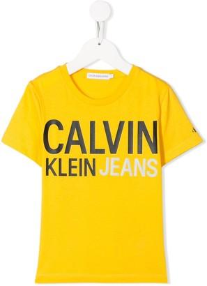Calvin Klein Kids short sleeve logo T-shirt