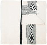 Voz - Wide Diagonal Wrap scarf - women - Lama Fur - One Size