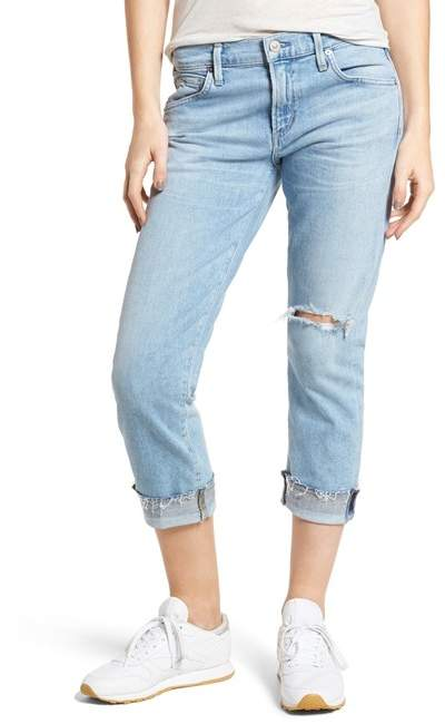Citizens of Humanity Emerson Ripped Crop Slim Boyfriend Jeans (Rising)