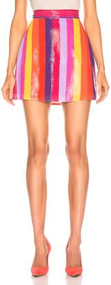 Olivia Rubin Libby Skirt in Rainbow Stripe | FWRD