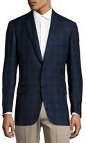 Brioni Plaid Wool Sport Coat