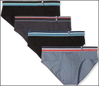 Athena Men's Easy Color Knickers, (Anthracite/Gris Noir 9000), (Size: 7) (Pack of 4)