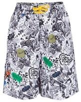 Stella McCartney White Graffiti Print Swim Shorts