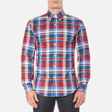 Polo Ralph Lauren Men's Long Sleeve Checked Stretch Oxford Shirt Red/Blue