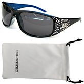 Vox Footwear Women's Polarized Sunglasses Designer Fashion Eyewear w/ Microfiber Pouch - Frame - Smoke Lens