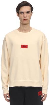 424 Crewneck Cotton Jersey Sweatshirt
