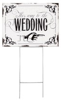 "Hortense B. Hewitt Wedding Yard Sign - ""This Way To The Wedding"""